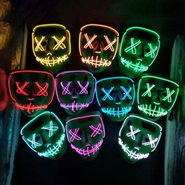 Halloween Party & Rave Glow Mask