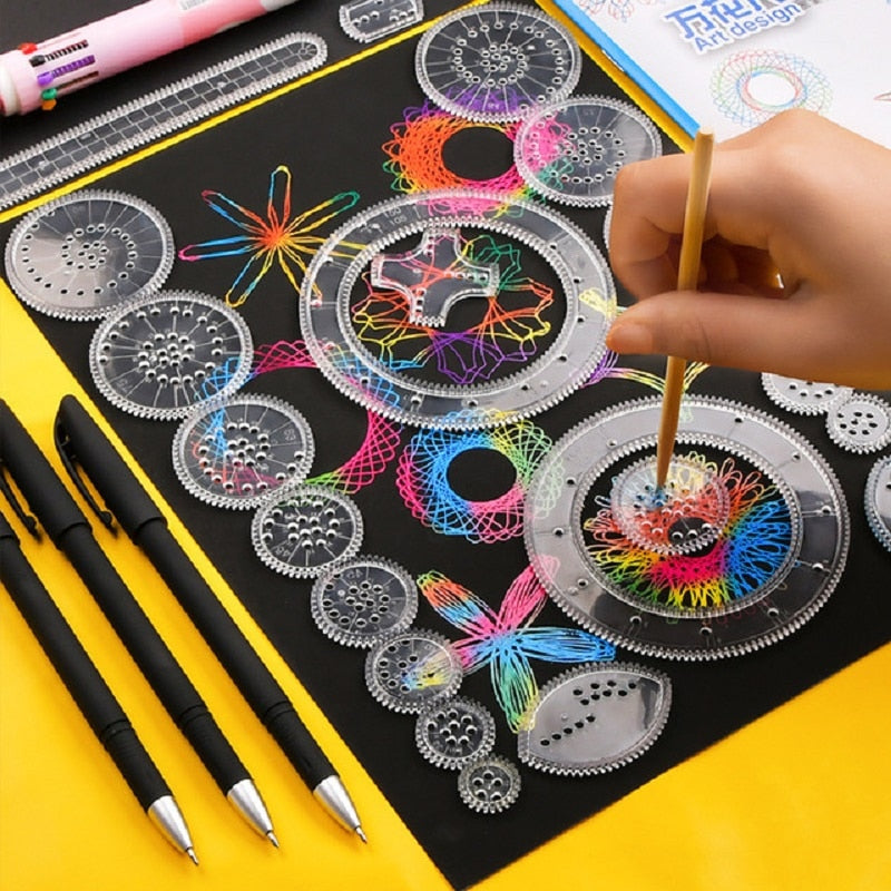 28Pcs Spirograph Drawing Set