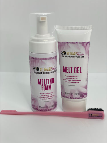 BILLIONAIRE'S HAIR LACE MELT GEL + LACE MELTING FOAM SET