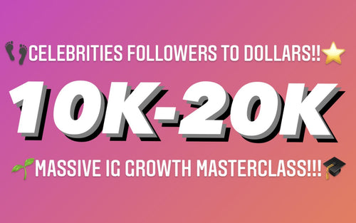 ⭐️CELEBRITIES FOLLOWERS TO DOLLARS MASSIVE IG GROWTH MASTERCLASS!!🎓