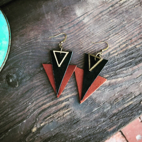 Brown and Black Geo Triangles