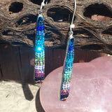 Rainbow Long Mosaic Earrings