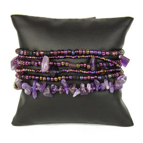 beaded funky purple