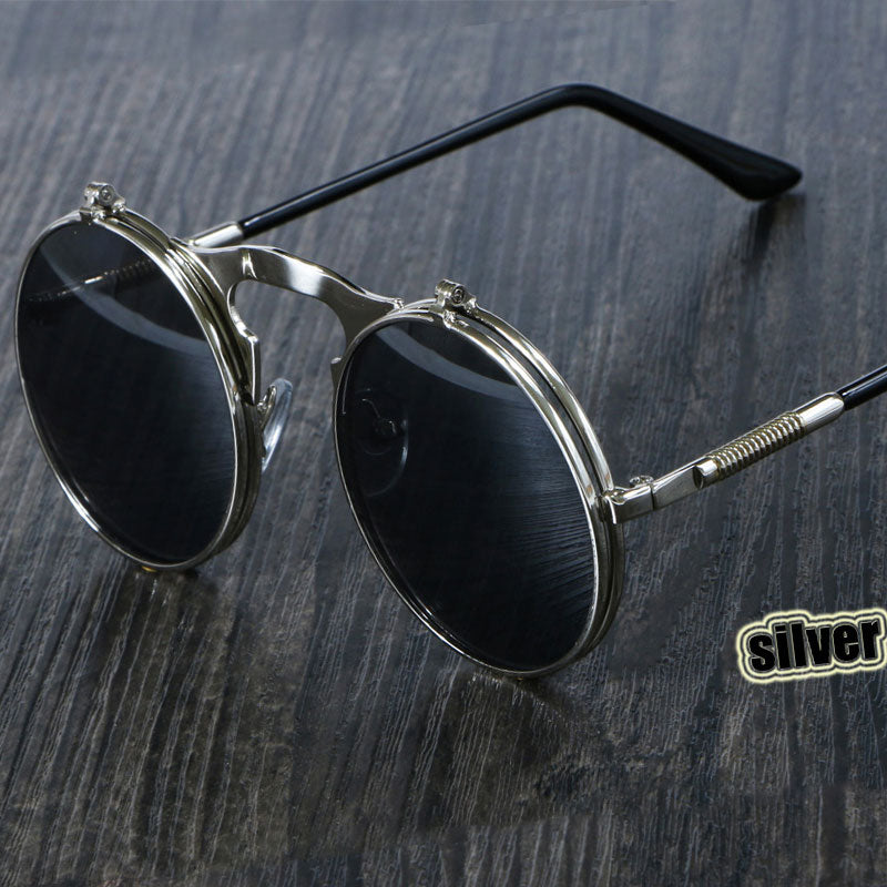Steampunk Retro Round Frame Men's Sunglasses