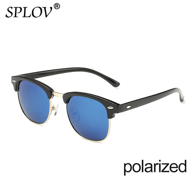 Half Rim Polarized Men's Sunglasses - Shades Capital