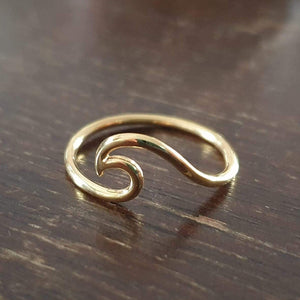 The Wave - Vergoldeter Ring - Schmuck