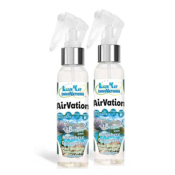 AirVation™ The Safe Anywhere Deodorizer Concentrated Odor Binding Air Freshener for Fabrics & Air - Mountain Breeze