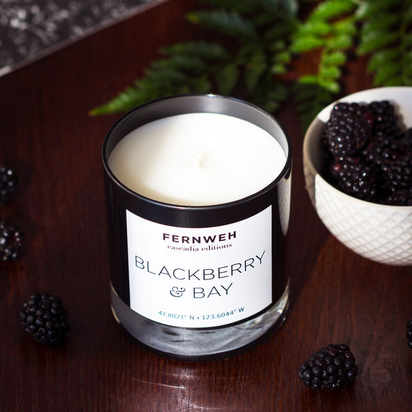 masculine blackberry candle
