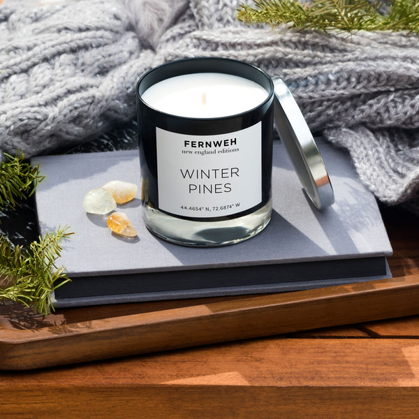 masculine pines candle