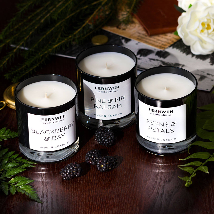 Ferns & Petals Candle: Cascadia Editions
