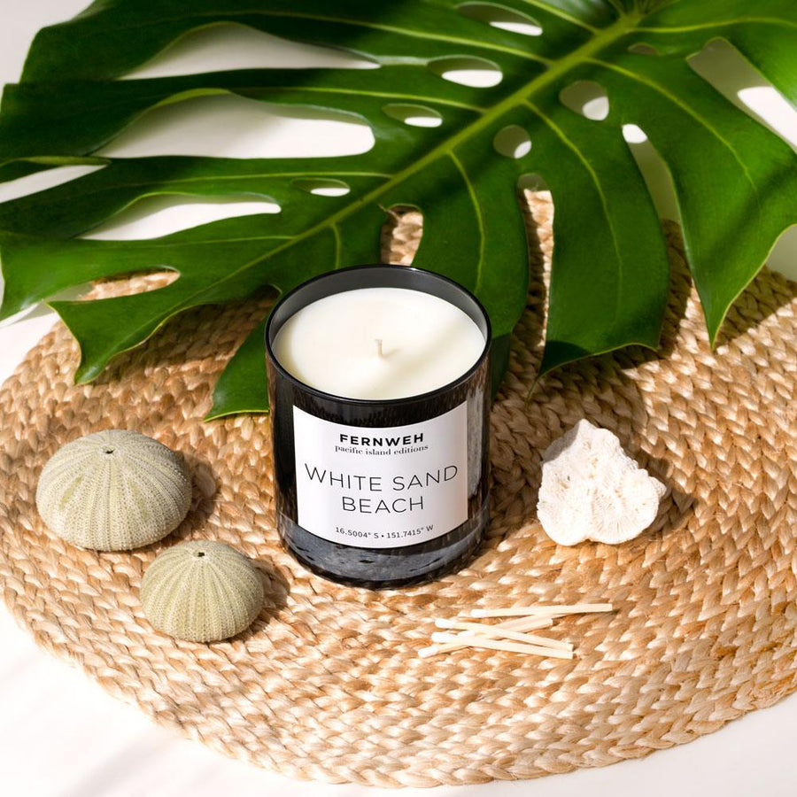 White Sand Beach Candle: Pacific Islands Editions