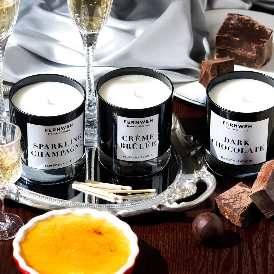 France: Sparkling Champagne Candle France France Editions 3 Classic Set