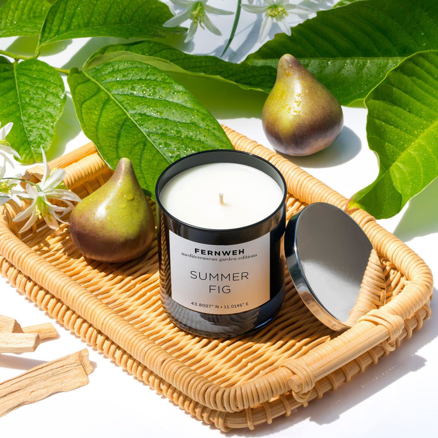 Mediterranean Garden: Summer Fig Candle - Fernweh Editions