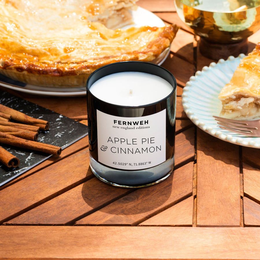 New England: Apple Pie & Cinnamon Candle - Fernweh Editions