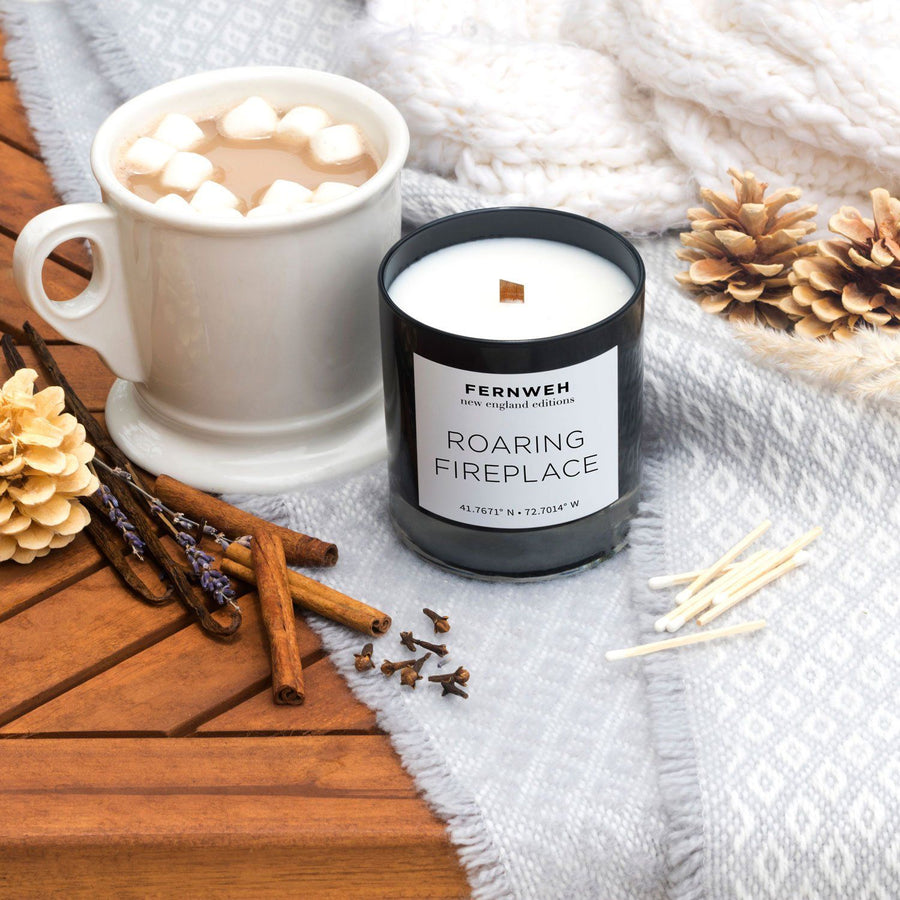 New England: Roaring Fireplace Candle (Next Batch Available January 2021)
