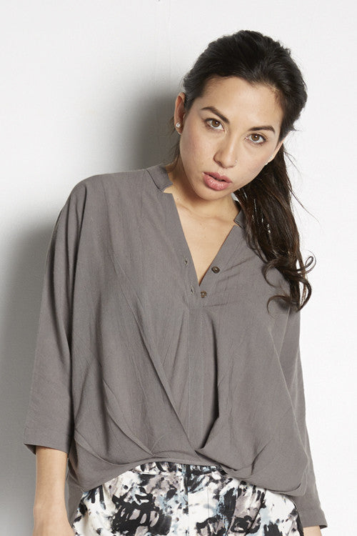 Twisted Slouchy Blouse