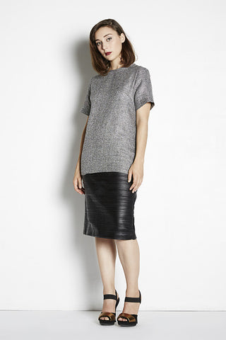 Pleated Pencil Skirt