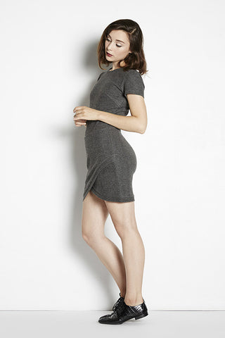 Short Sleeve Wrap Mini Dress