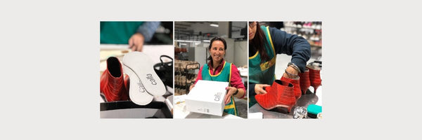 behind the scenes calla shoes for bunions factory