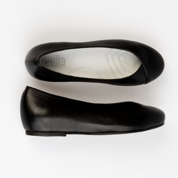 charlotte black stylish comfortable flats for bunions calla shoes