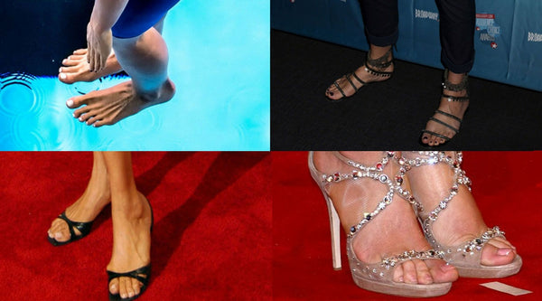 a list of celebrities who have large feet and wear big shoes