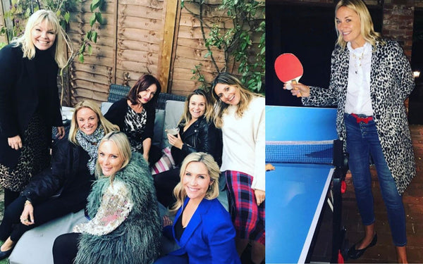 famous fan of calla shoes tamzin outhwaite wearing calla shoes
