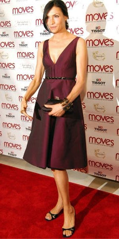 Famke On Red Carpet Wearing Strappy Heels