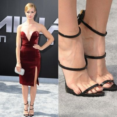 Beth Behrs Small Feet in Heels