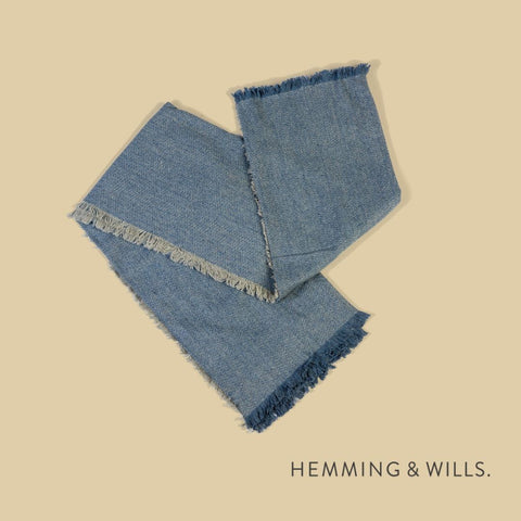 hemming and wills blue throw