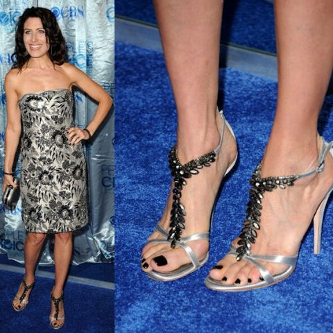 celebrities with bunions lisa edelstein feet