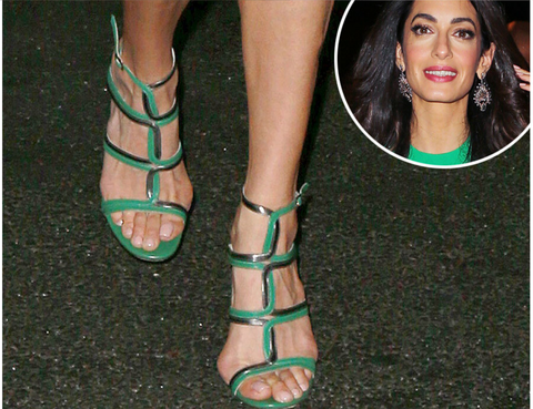 amal clooney bunions foot reading
