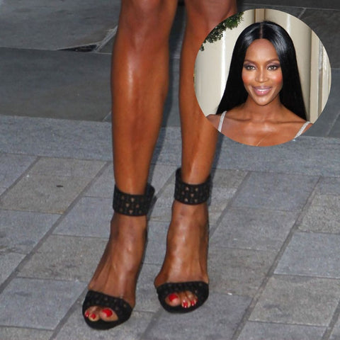 celebrities with bunions naomi campbell feet
