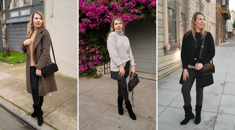 blogger cheryl styles the calla giorgia black boots for bunions
