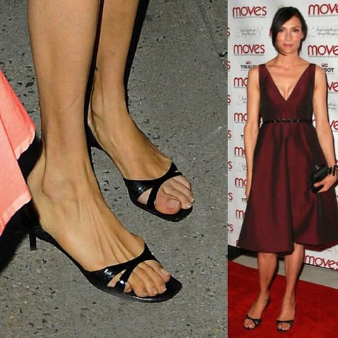 celebrities with bunions famke janssen feet