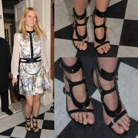 celebrities with bunions gwyneth paltrow feet calla