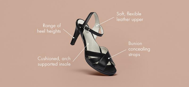 heels for bunions features explained