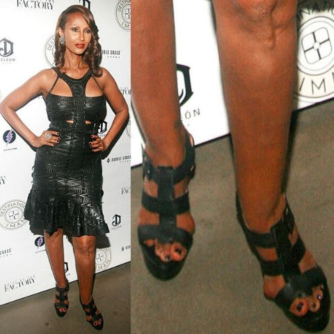 celebrities with bunions iman feet calla shoes