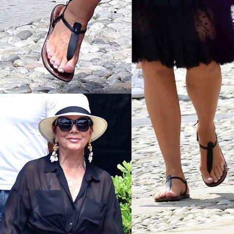 celebrities with bunions kris jenner feet calla shoes