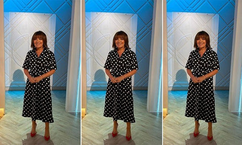 Lorraine-kelly-polka-dot-dress
