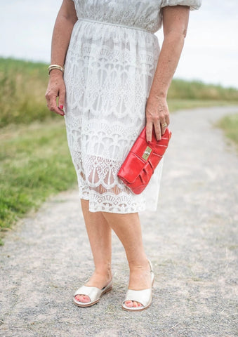 calla shoes sandals with white dress by mummabstylish