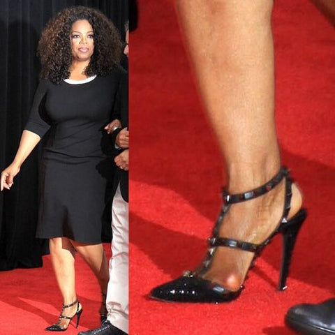 celebrities with bunions oprah winfrey feet calla shoes