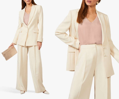 wedding guest cream tailor suit
