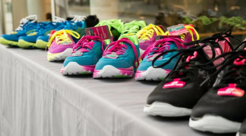 colourful trainers and sneakers for running with bunions