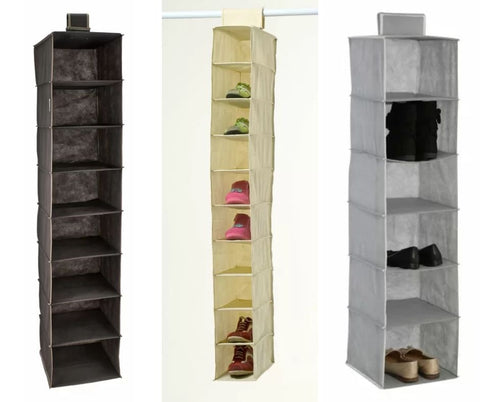 3 wardrobe hangers for shoes