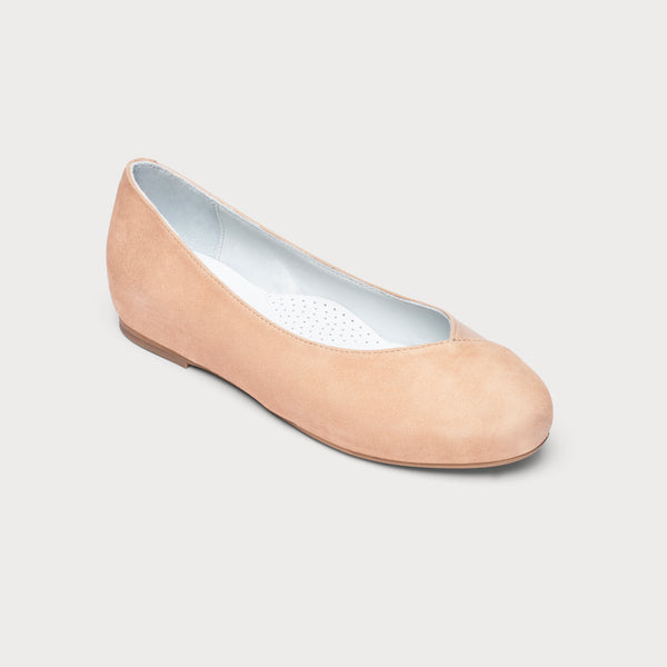 Charlotte - Nude Leather/Suede