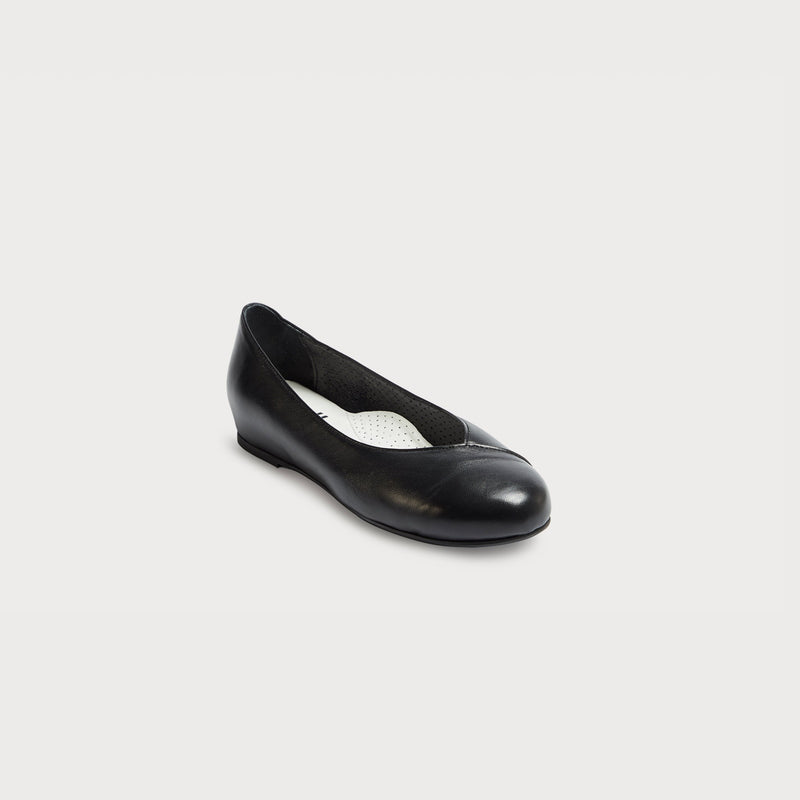 black leather flat shoes for bunions wide feet comfort