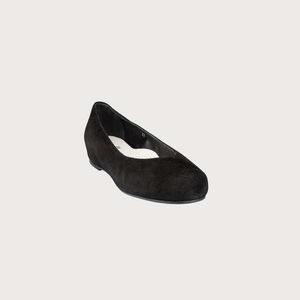Black suede flats for bunions wide feet comfort style