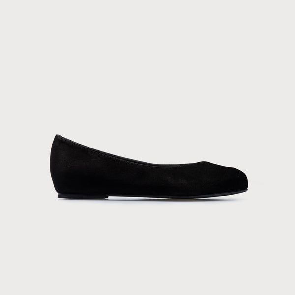 bunion flats black suede shoes