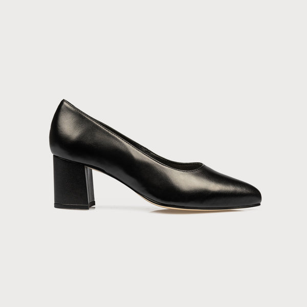 comfortable black bunion shoes block heel court shoes