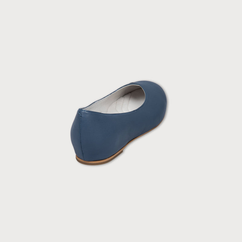 blue shoes flats leather bunions wide feet comfort